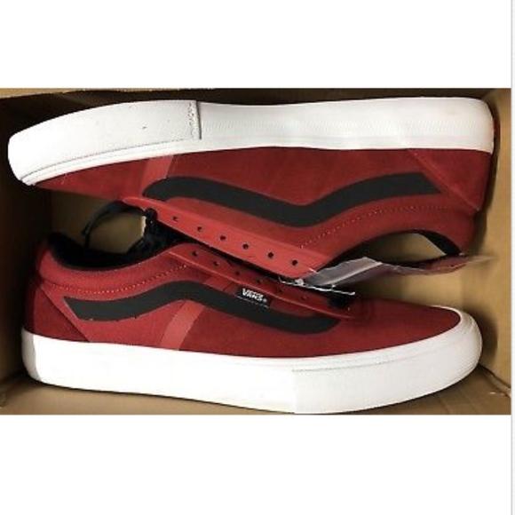 3e2bd5feda Vans AV Rapid Weld Pro Red Dahlia White Shoes